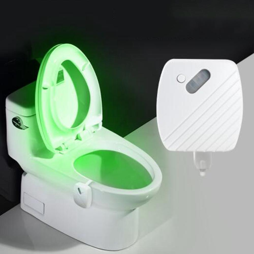 big sale db3f3 4ebd4 24 Colours Motion Sensor LED Night Light Toilet Light Bowl Bathroom Lamp