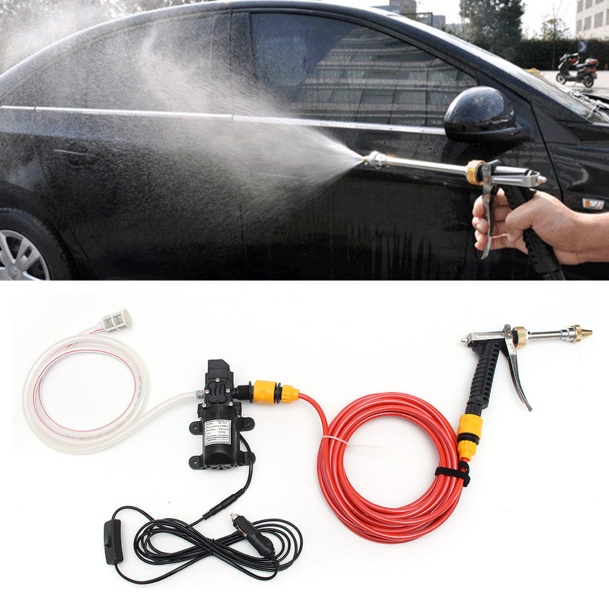12v 60w Electric Car Wash Pump Water Cleaner Washer