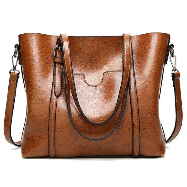 Women Tote Handbags Vintage Front Pocket Shoulder Bag Large Capacity Crossbody Bags