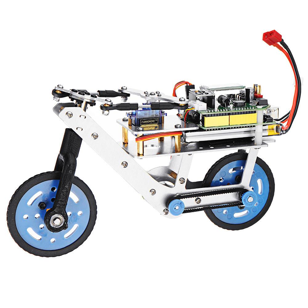 Arduino Programmable Smart RC Robot Bike Car Self Balance Car APP bluetooth  Control Educational Kit
