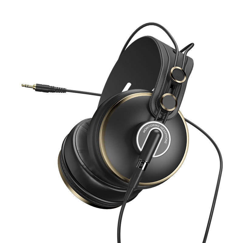 ISK HD-9999 HD Monitor Headphones Noise Cancelling Stereo Fully Enclosed Monitoring Earphone for DJ/Audio Mixing/Recording Studio
