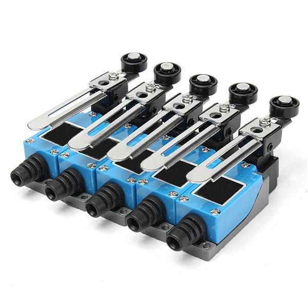 Excellway® 5 Adet Limit Switch AC 250V 5A Ayarlanabilir Rotary Silindir Kol