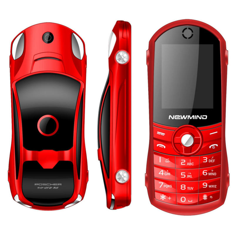 NEWMIND F8 Car Model Cellphone 1 8'' 1900mAh Flashlight Music Player Dual  Sim Mini Card Phone