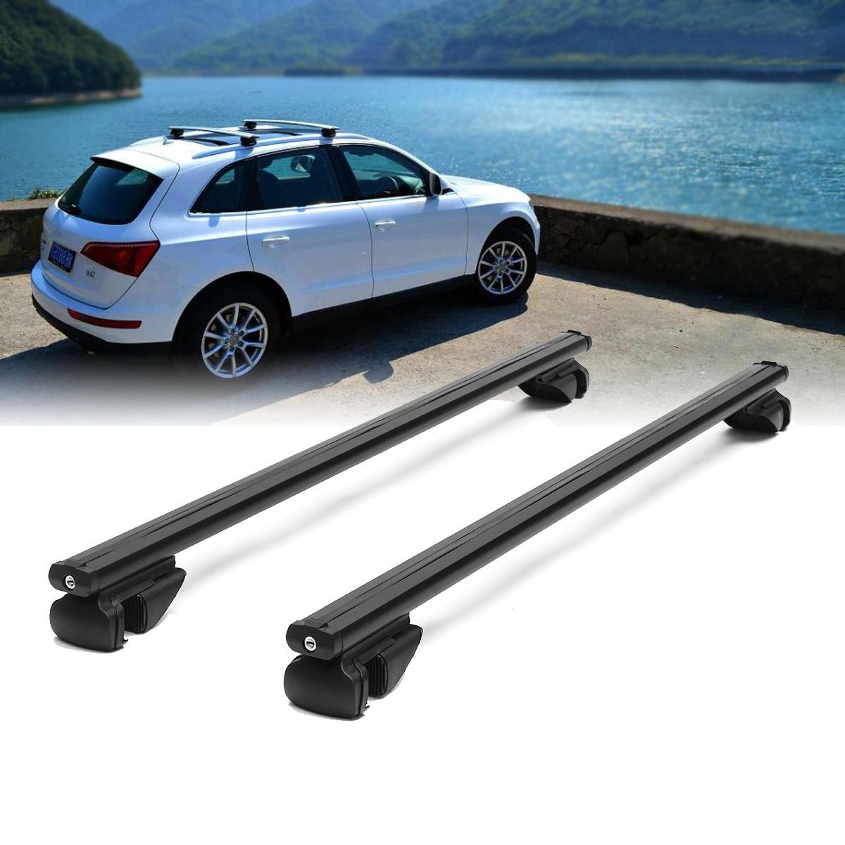 Car Top Roof Racks Universal Cross Bars Lock Anti-theft Lockable Cargo Carrier