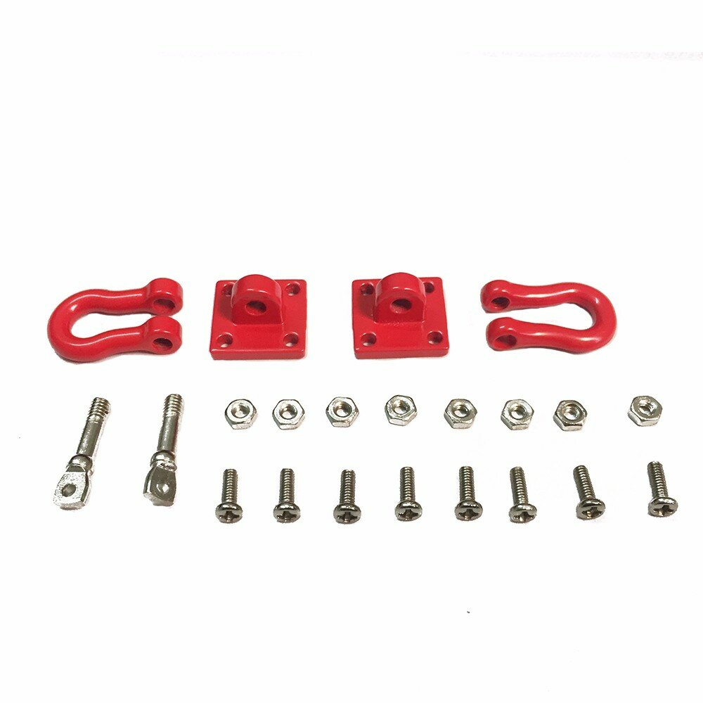 Trailer Hook Chain Tow Buckle Rescue Buckle for 1/10 Axial SCX10 90046 RC4WD D90 CC01 Rc Car Parts
