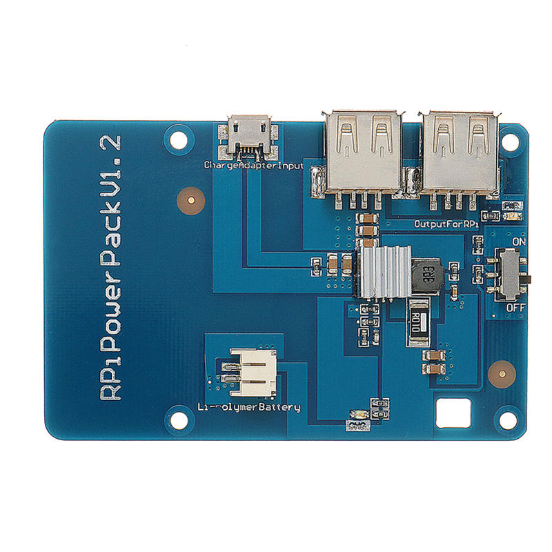 Power Pack V1.2 Lithium Battery Expansion Board With USB Hub For Raspberry Pi / Cell Phone Charging