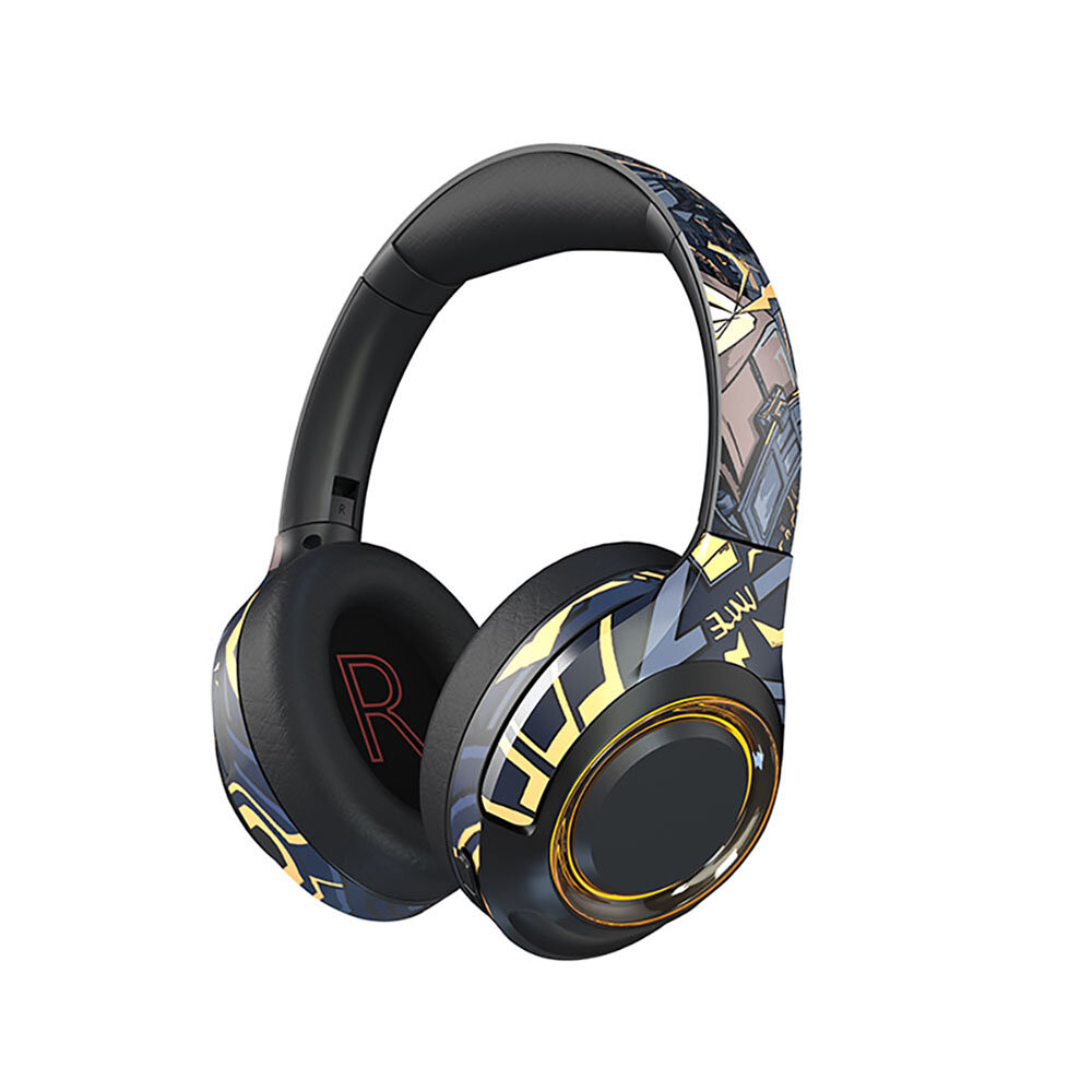 EL-A2 bluetooth Gaming Headset with Noise Cancelling Mic Cool Light HIFI High Fidelity Sound Quality Foldable design for