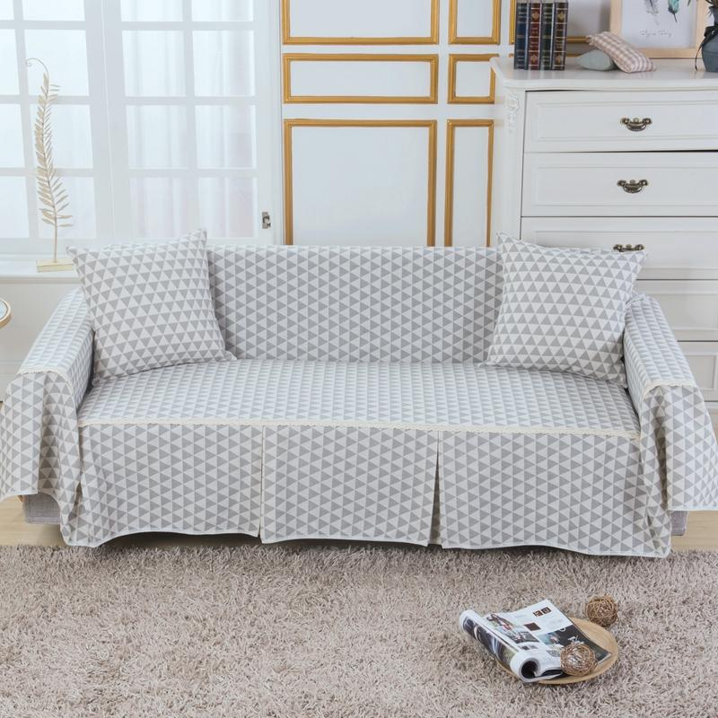 Sofa Cover Couch Slipcover Cotton Blend 1-4 Seater Pet Dog Chair Covers Protector for Living Room