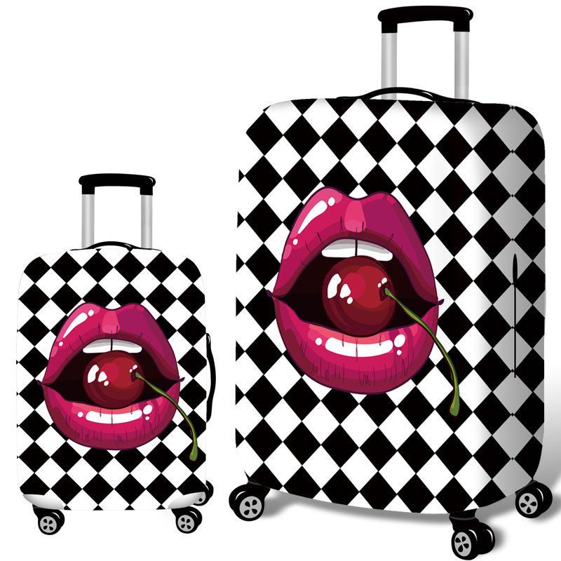 होनाना चेरी होंठ लोचदार सामान कवर ट्रॉली केस कवर टिकाऊ सूटकेस रक्षक 18-32 इंच केस गर्म यात्रा सहायक