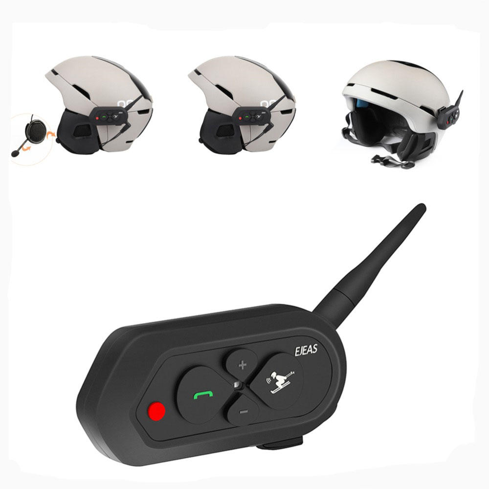 33fb3b48147 500mAh 1200M EJEAS Motorcycle Skiing Helmet Intercom Headset With bluetooth  Function COD