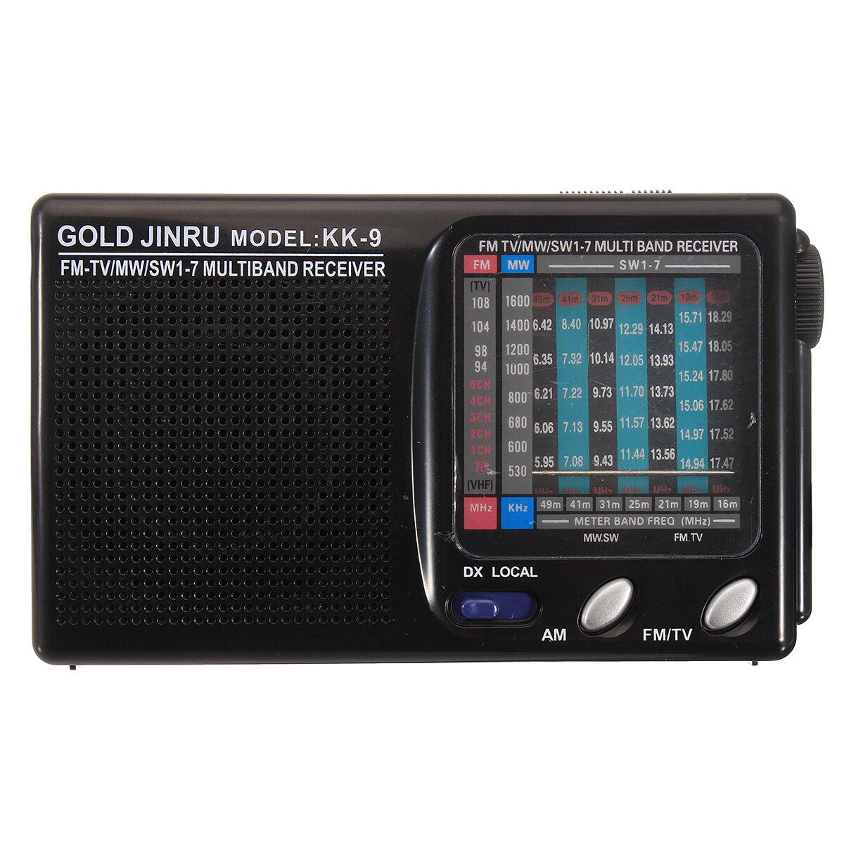 Portable Full Band Radio FM Stereo Speaker MW SW Radio Receiver Shortwave Receiver