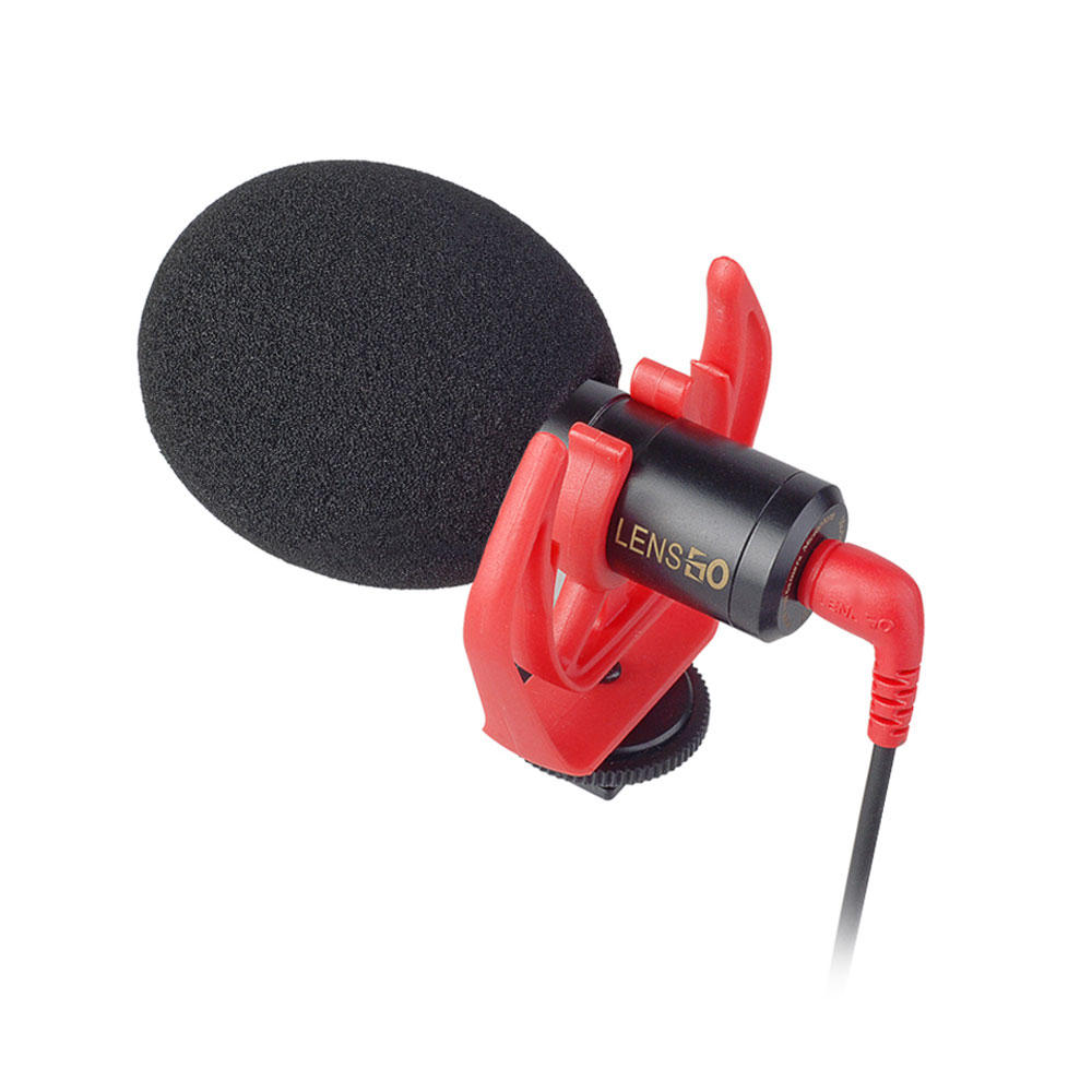 LENSGO DMM1 3.5mm Universal Cardioid Directional Condenser Microphone With Sponge Windshield