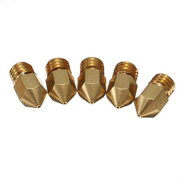 Creality 3D® 5PCS 0.4mm Copper M6 Thread Extruder Nozzle For 3D Printer
