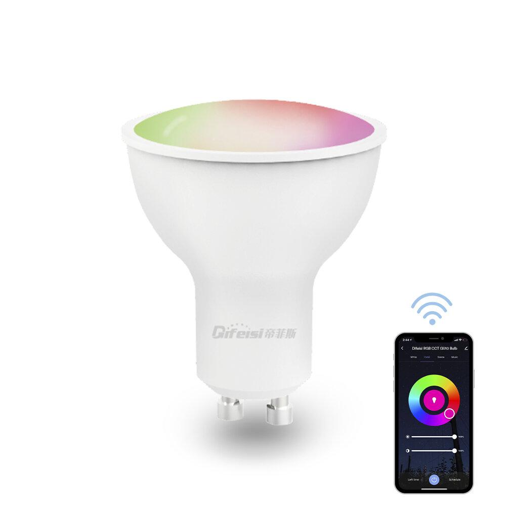 Difeisi DFS-EC-G001 GU10 Умная лампа 450 лм Цветовая температура 2700–6500 К Работает с Alexa и Google Assistant