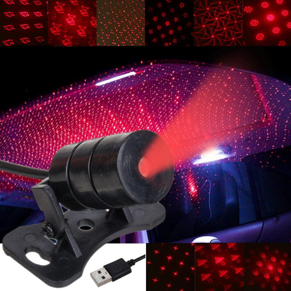 मिनी एलईडी कार रूफ छत स्टार नाइट लाइट प्रोजेक्टर लैंप आंतरिक वायुमंडल सजावट तारों का प्रोजेक्टर