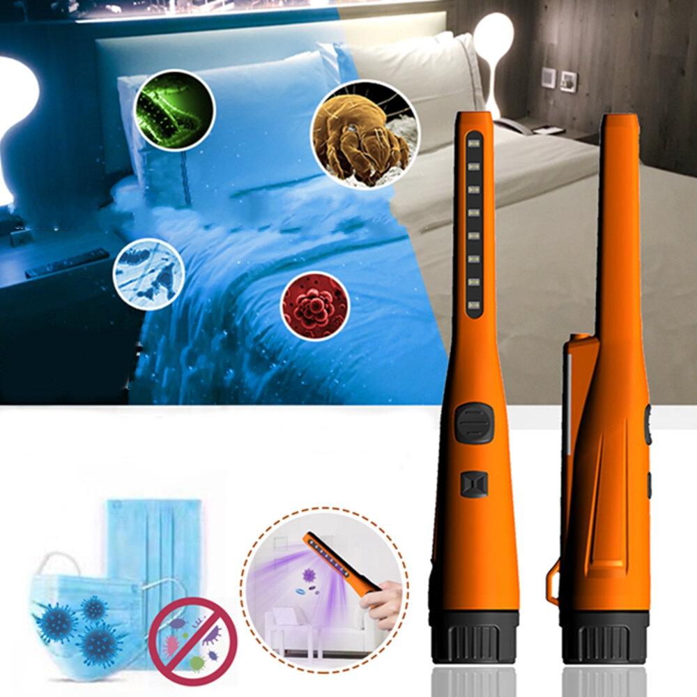 UV Sterilizer Lamp Battery Powered Small UV Lamp Sanitizer LED Ultraviolet Light Sterilization For Ourdoor Medical DC9V