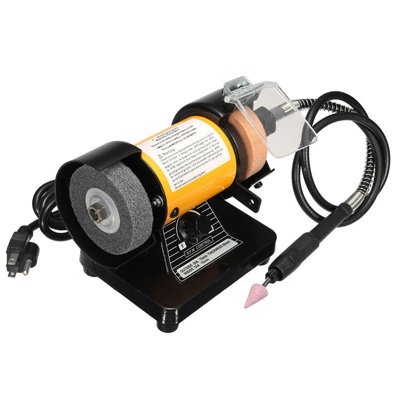 Swell 110V Ac 3 Inch Mini Bench Grinder Flexible Shaft Rotary Grinder Polisher Tool Beatyapartments Chair Design Images Beatyapartmentscom
