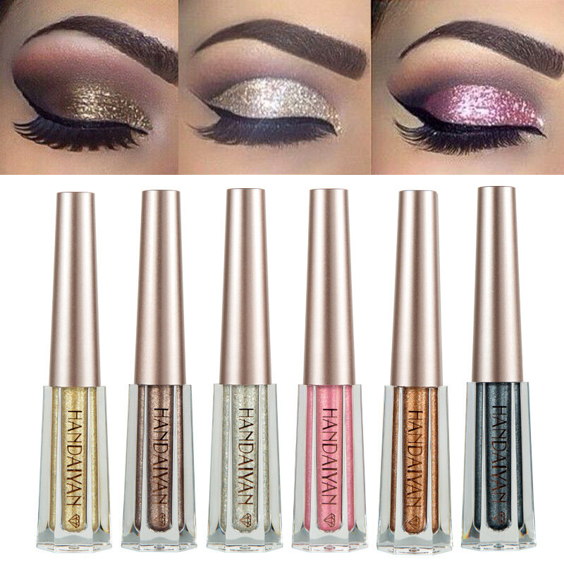 HANDAIYAN 12 färger Diamond Glitter Liquid Eye Shadow
