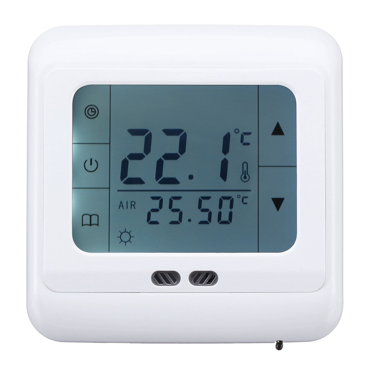 Bộ điều chỉnh nhiệt độ sàn 5 - 35 ° C LCD Bộ điều khiển nhiệt độ lập trình thông minh AC 220 V