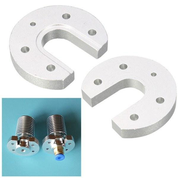 V5 V6 Hotend J-head Aluminum Heatsink Mount Plate U-shaped For 3D Printer