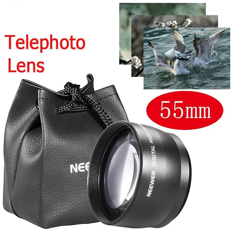 NEEWER 55mm Telephoto Lens 2.0X Optical for Sony Pentax 18-55