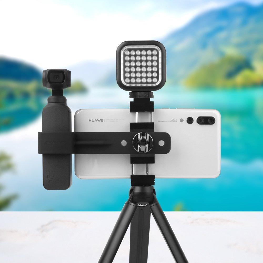 Sunnylife Metal Smartphone Clamp Mount Holder Tripod Extension Rod for DJI OSMO POCKET Gimbal