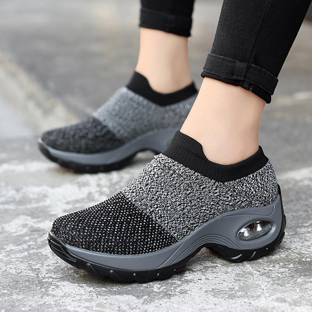 Women Casual Shoes Mesh Cushioned Outdoor Sneakers