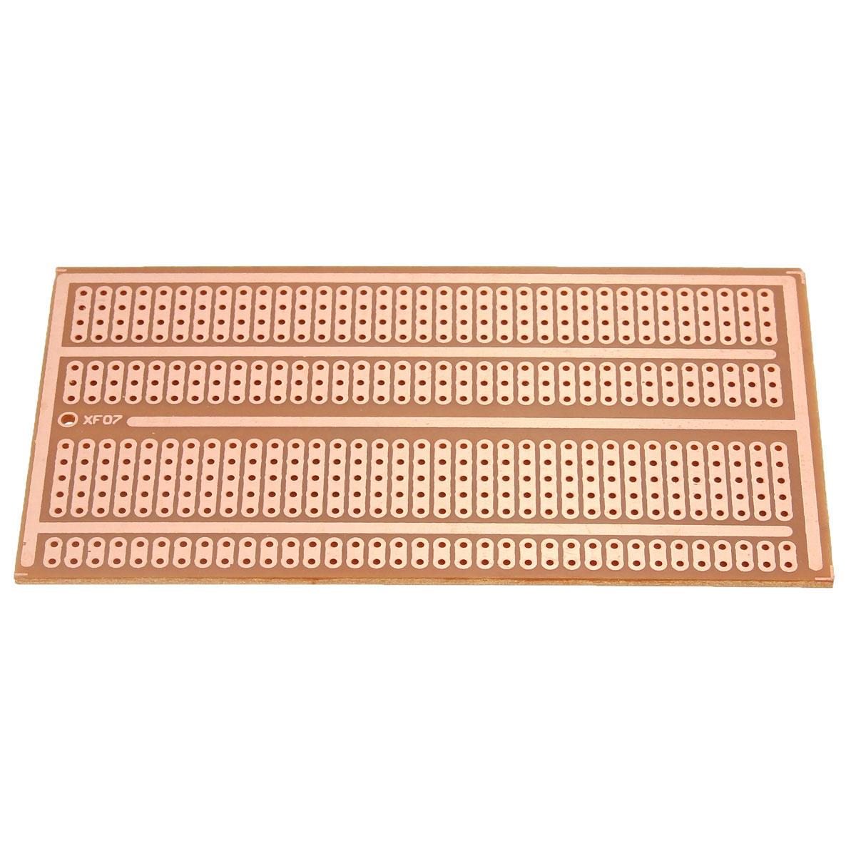 20pcs 5X10cm Single Side Copper Prototype Paper PCB Breadboard 2-3-5 Joint Hole