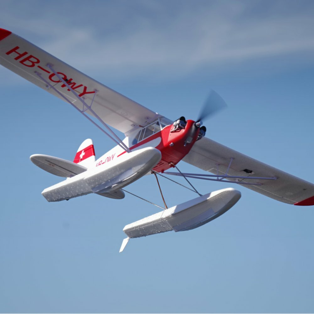 FMS J-3 CUB V3 1400mm Wingspan EPO Trainer Beginner RC Airplane PNP With Floats