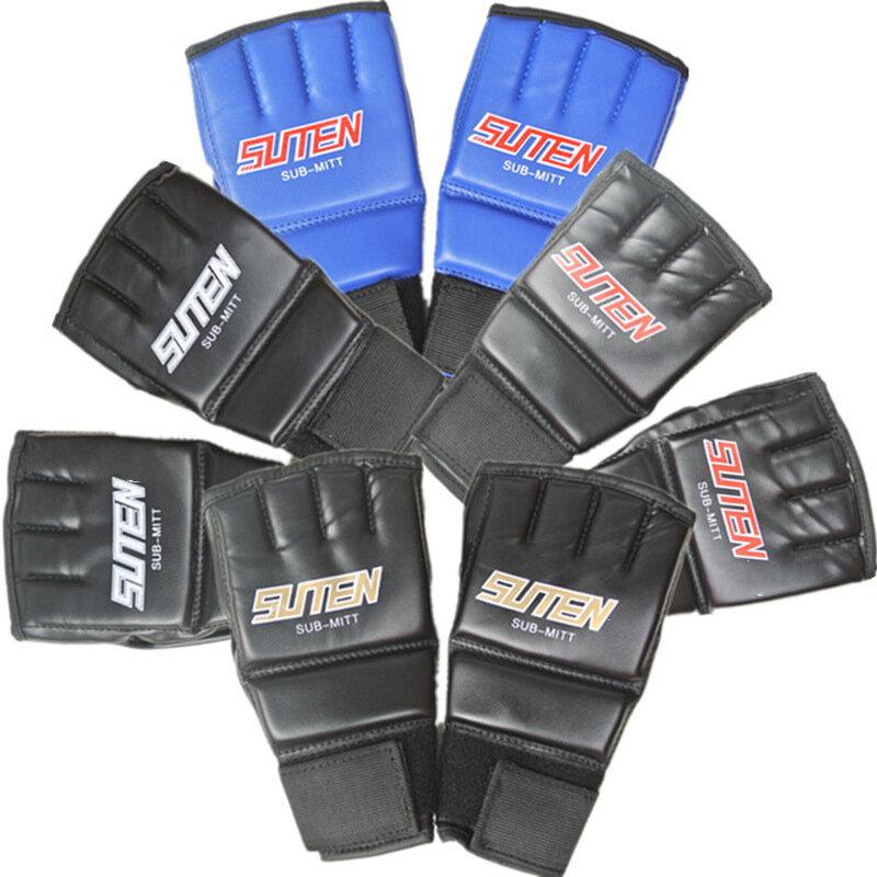1 Pair Half Finger Boxing Gloves Training Grappling Martial Arts Muay Thai Taekwondo Glove for Adult Kids