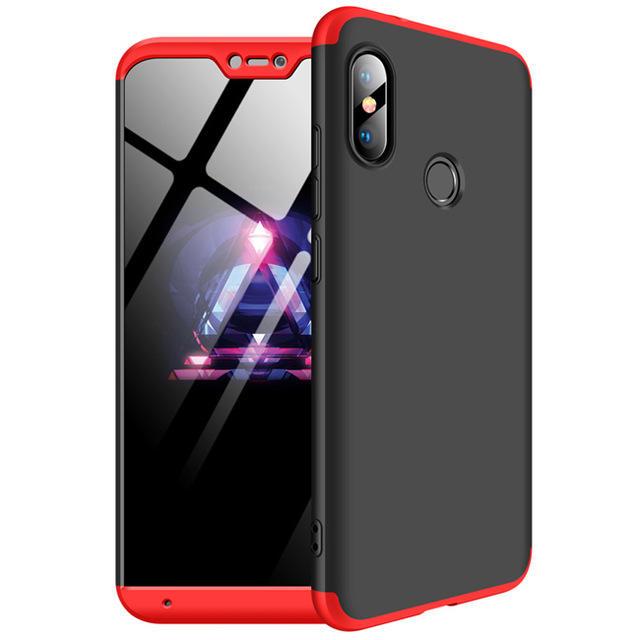 Bakeey ™ 3 in 1 Doppio Dip 360 ° Custodia protettiva completa per PC rigido per Xiaomi Mi A2 Lite / Xiaomi Redmi 6 Pro