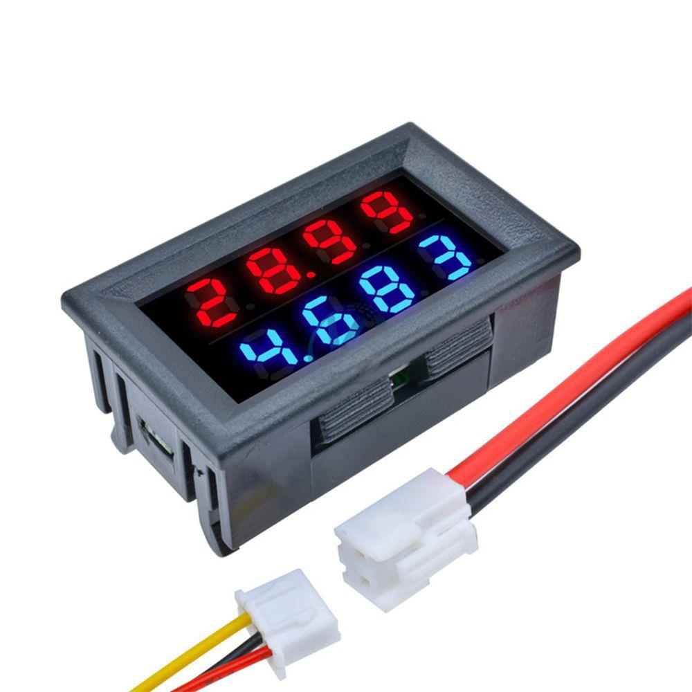 Geekcreit® DC 100V 10A 0.28 Inch Mini Digital Voltmeter Ammeter 4 Bit 5 Wires Voltage Current Meter with LED Dual Display