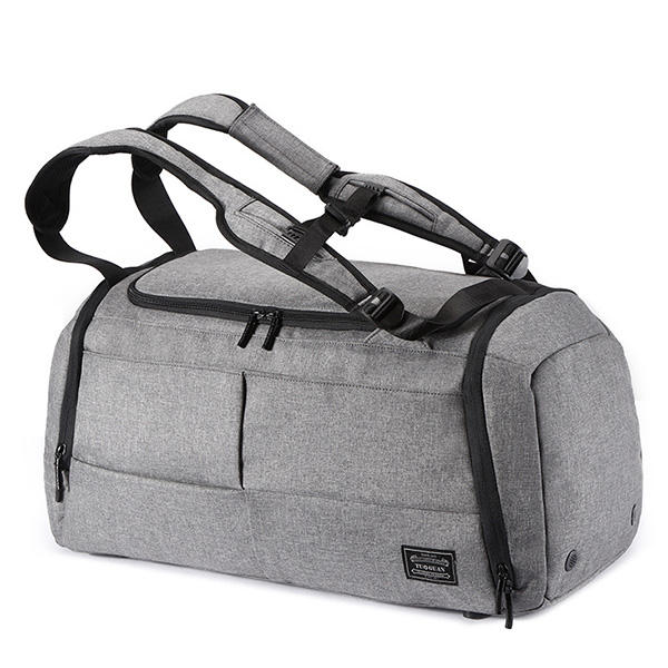824058eb5 Mens Travel Bag Duffle Bag Large Capacity Gym Bag with Separate Shoes  Compartment - Gray 2 COD