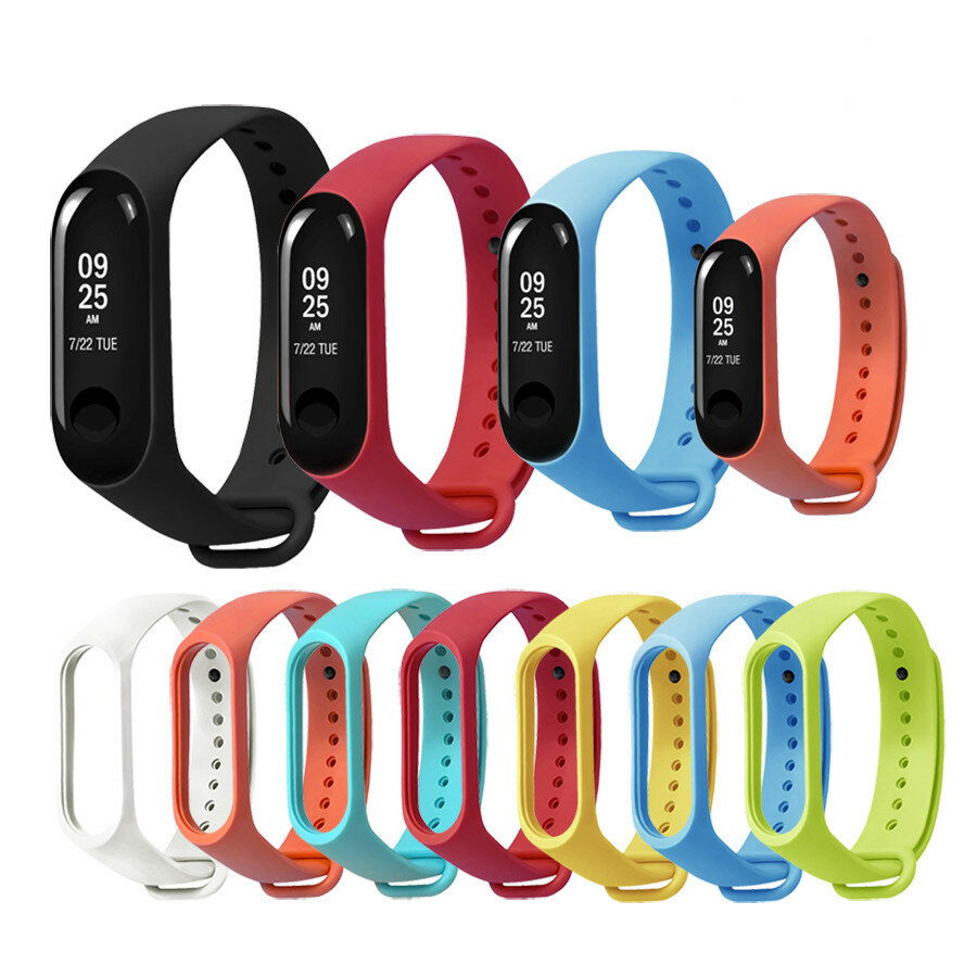 Bakeey Replacement Silicone Sports Soft Armband Armband Armband för XIAOMI Mi Band 3/4