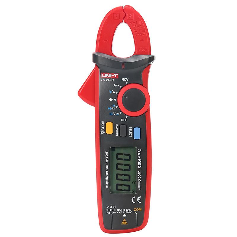 UNI-T UT210C True RMS Mini Digital Clamp Meter Auto Range Capacitance Clamp Multimeter Megohmmeter Temperature Multitester