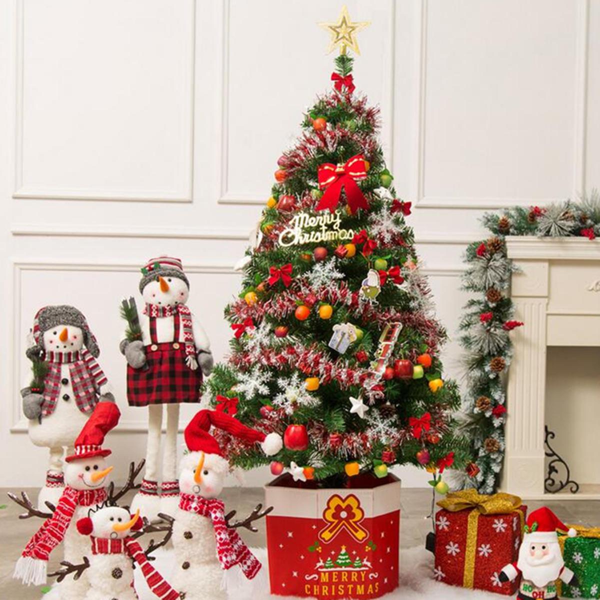 3 7ft Pre Lit Fiber Optic Artificial Christmas Tree Decoration LED Multicolor Lights Stand