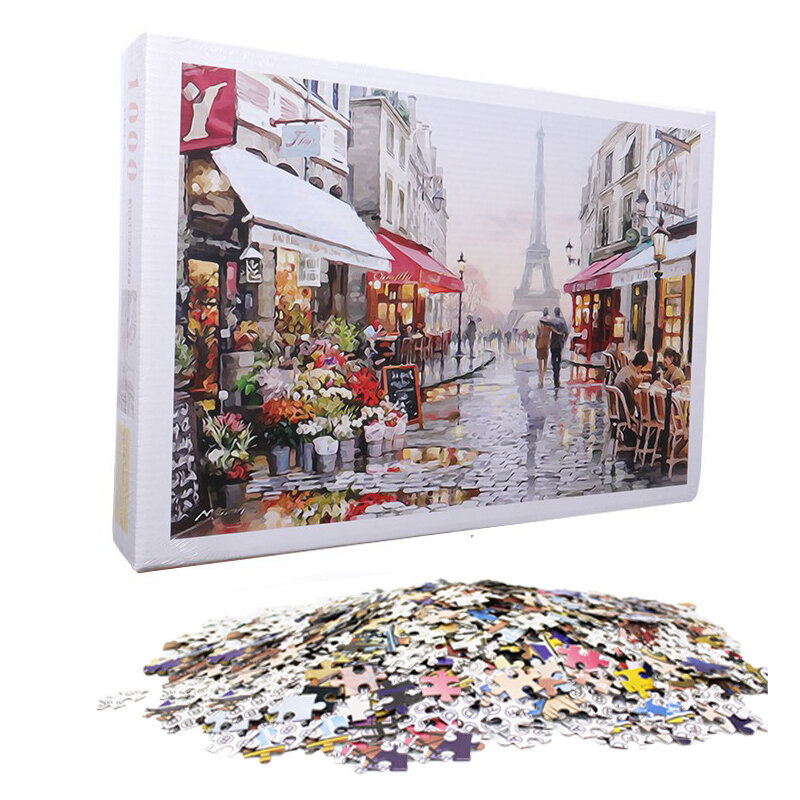 1000 Pieces Jigsaw Puzzle Toy DIY Assembly Paper Puzzle Beautiful Building Landscape Educational Toy, Banggood  - buy with discount