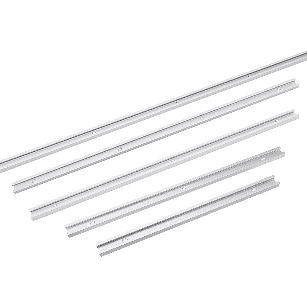 Drillpro 300-1220 mm Ranura en T Ranura en T Inglete Pista T Tornillo Ranura de fijación 19 x 9,5 mm Para mesa Sierra Ranuradora Mesa para carpintería herramienta