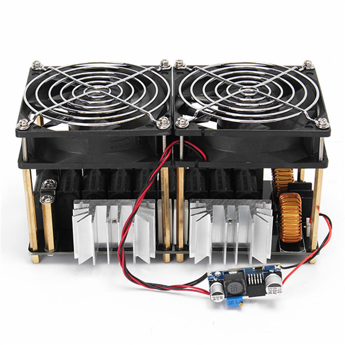 Piastre Di Tesla Funzionano 1800w 40a zvs riscaldatore driver flyback per modulo di riscaldamento a  induzione + bobina di tesla + ventola