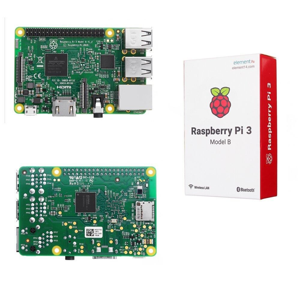 Raspberry Pi 3 Model B ARM Cortex-A53 CPU 1 2GHz 64-Bit Quad-Core 1GB RAM  10 Times B+