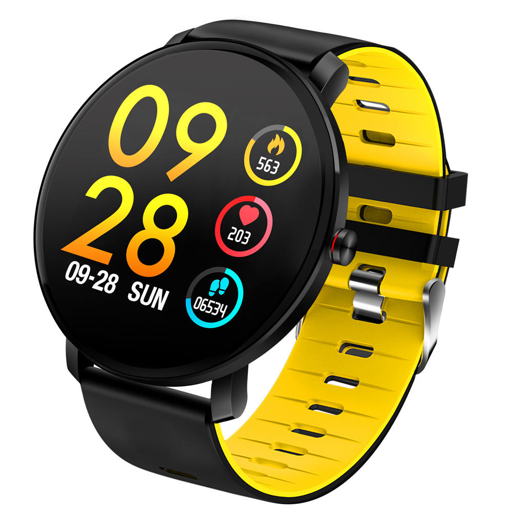 d0d78b6c9fa Bakeey K9 Full Touch 2.5D Screen Ultra-thin Heart Rate Blood Pressure IP68  Detachable Strap Smart Watch