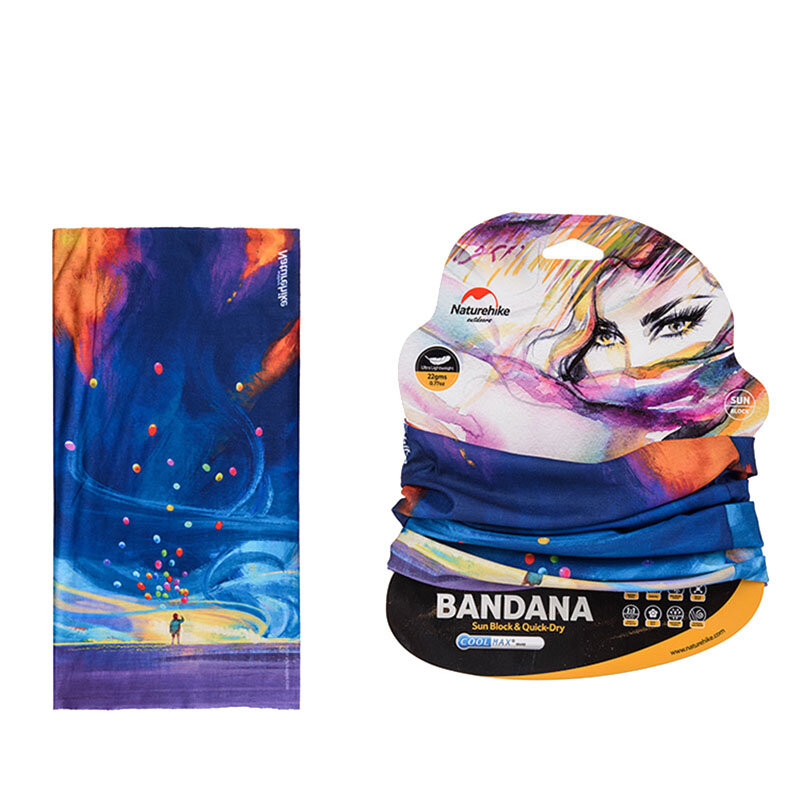 Naturehike 50*25cm Outdoor Sport Cycling Fishing Polyester Scarf Wrist Head Band Face Mask Protector