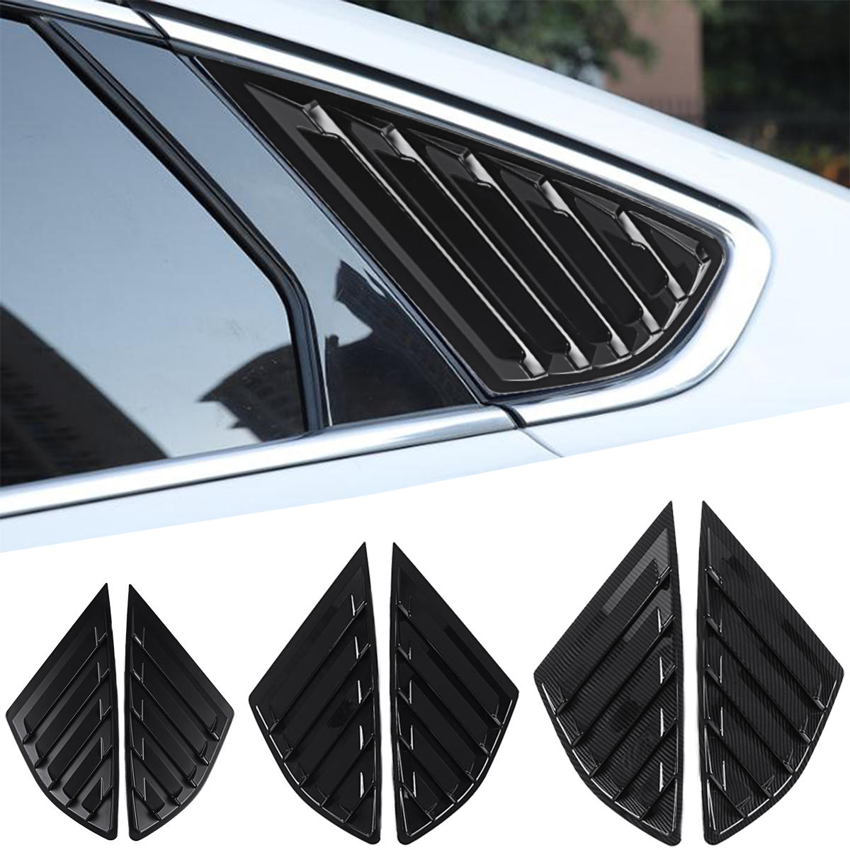 Car Rear Quarter Panel Side Vent Window Louvers Cover for Ford Fusion Mondeo 4 Door, Banggood  - buy with discount