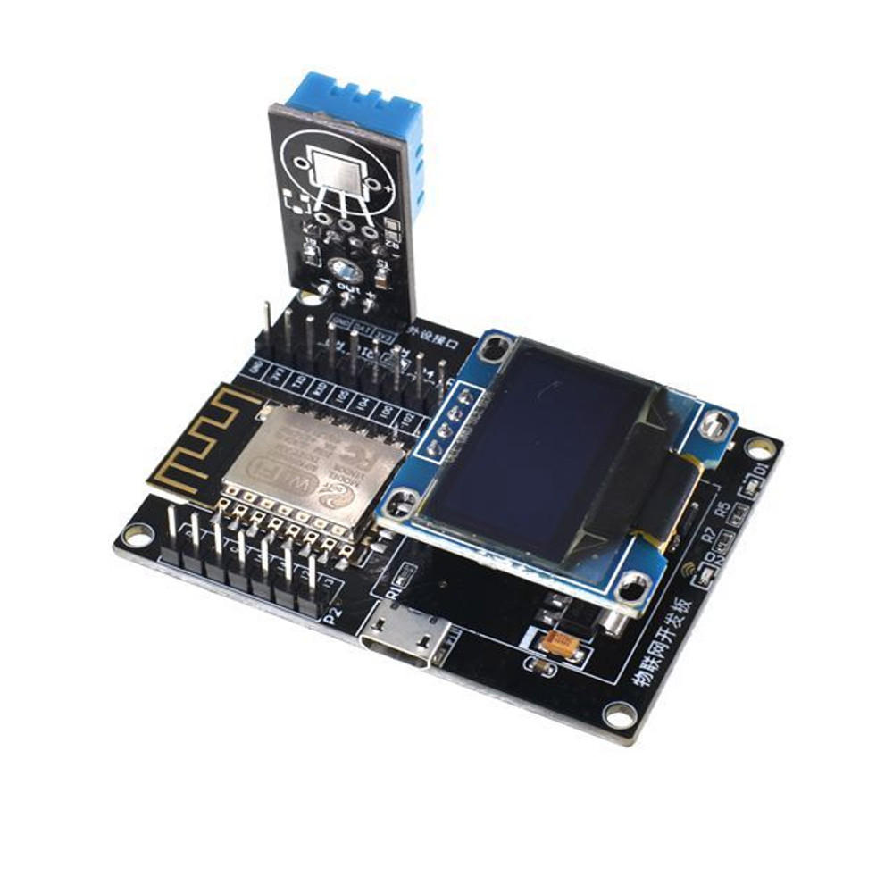 Geekcreit® ESP8266 IoT Development Board +DHT11 Temperature and Humidity + Yellow Blue OLED Display SDK Programming Wifi Module