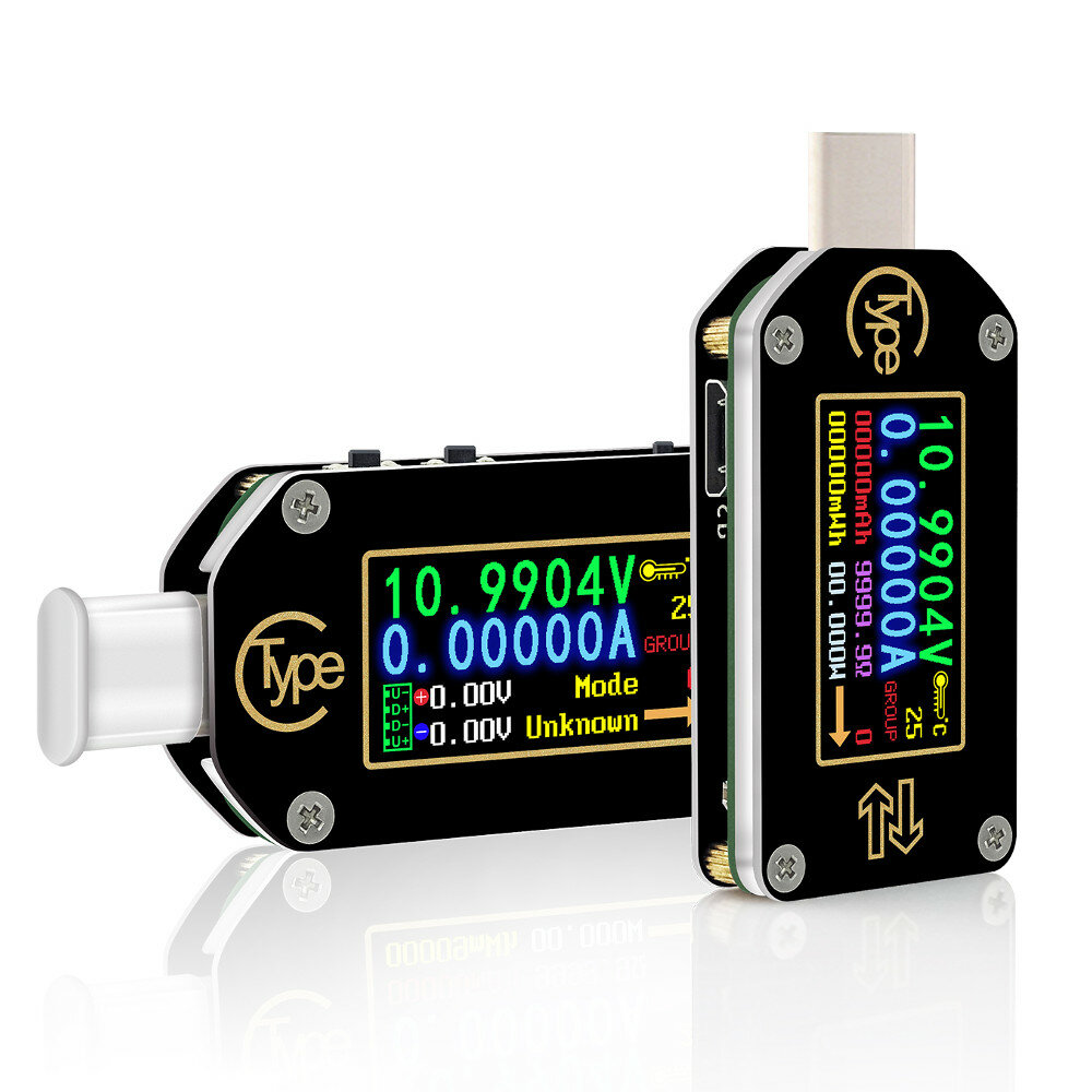 Code:BGTC66 RIDEN® TC66/TC66C Type-C PD Trigger USB Voltage Ammeter Capacity Meter 2 Way Measurement Charger Battery APP PC USB Tester