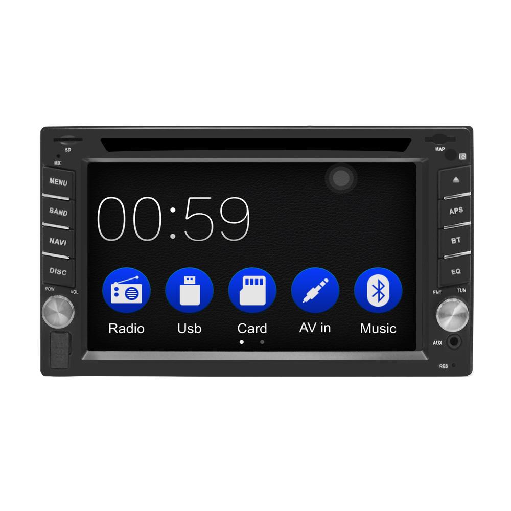 6.2インチ2 Din HDカーDVDプレーヤーラジオステレオWinCEブルートゥースカープレイ用GPSナビゲーションサポートリアカメラ