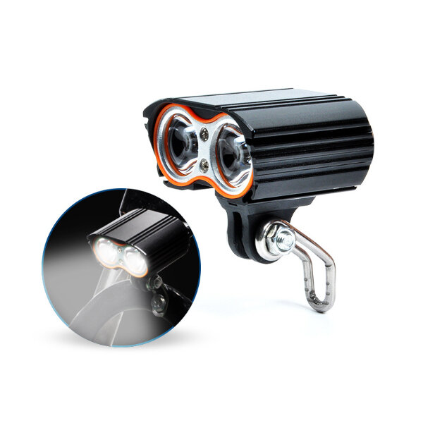 XANES® DL24 1600LM Dual T6 LED Bike Light 4 Modes Waterproof E-bike Electric Scooter Lamp Headlight For Cycling Camping