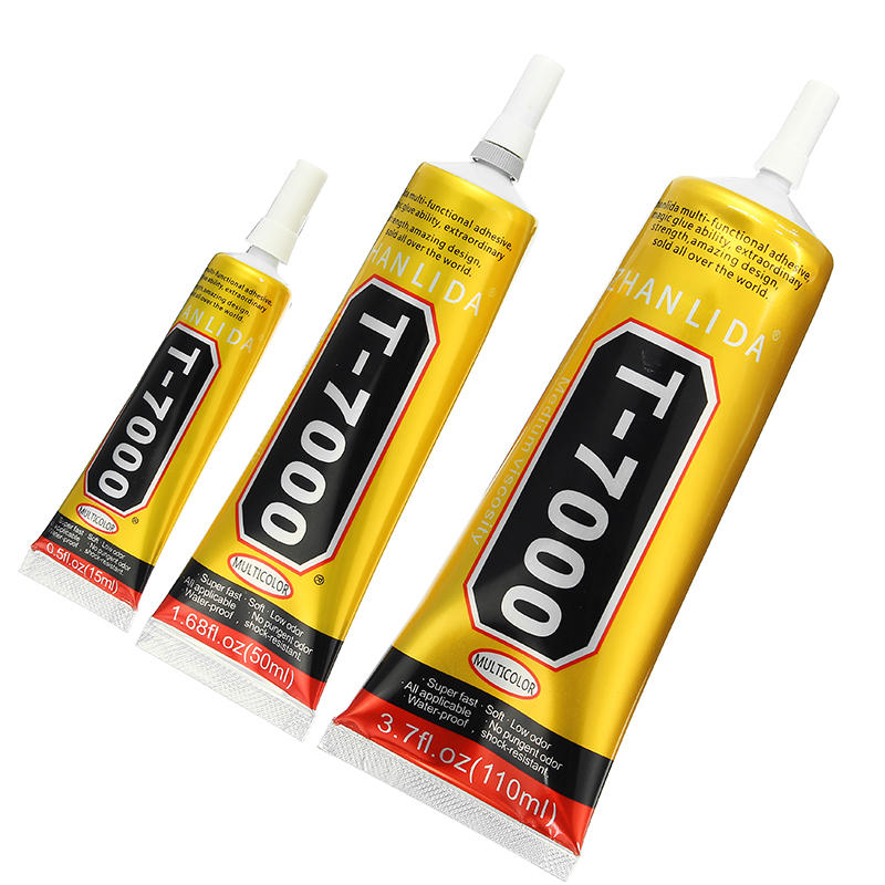 T7000 Glue Multi Purpose Black Acrylic Adhesive for Phone Screen Repair Frame Sealant DIY Crafts