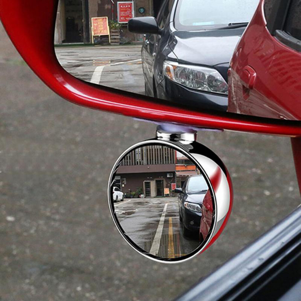 3R 70MM Car Right Side Blind Spot Rearview Mirror HD 360° Wide Angle Reversing Auxiliary Mirror фото