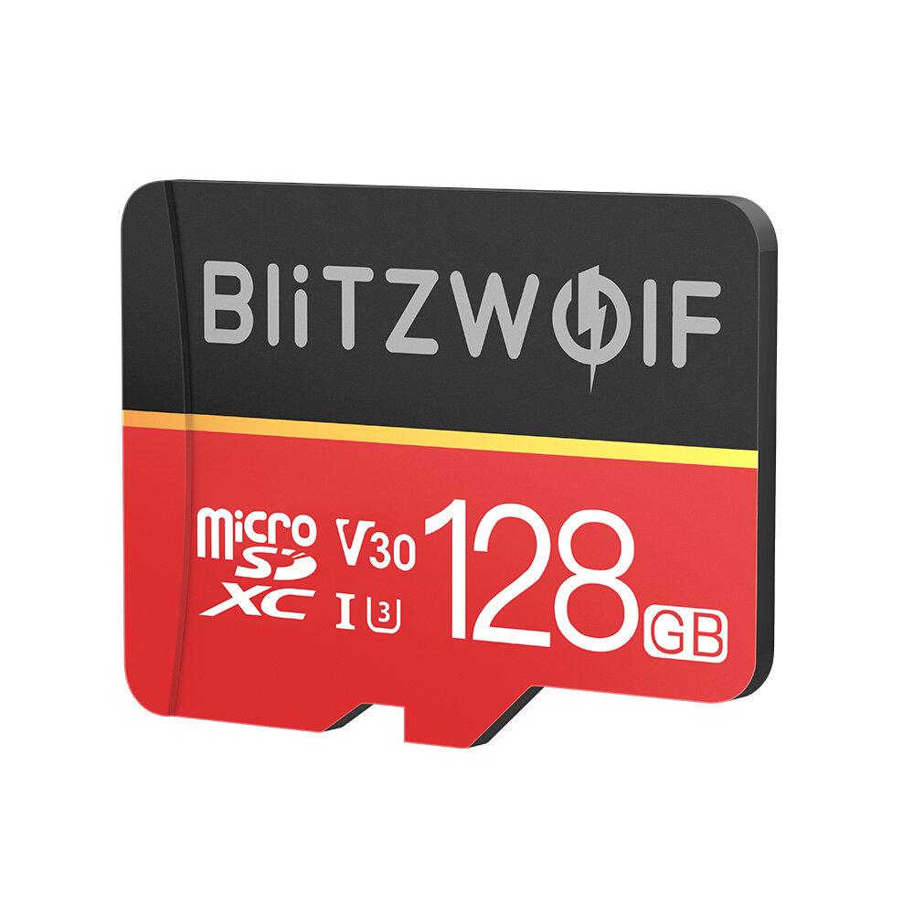 BlitzWolf® BW-TF1 Kelas 10 UHS-1 32GB UHS-3 V30 64GB 128GB Kartu Memori Micro SD TF dengan Adaptor